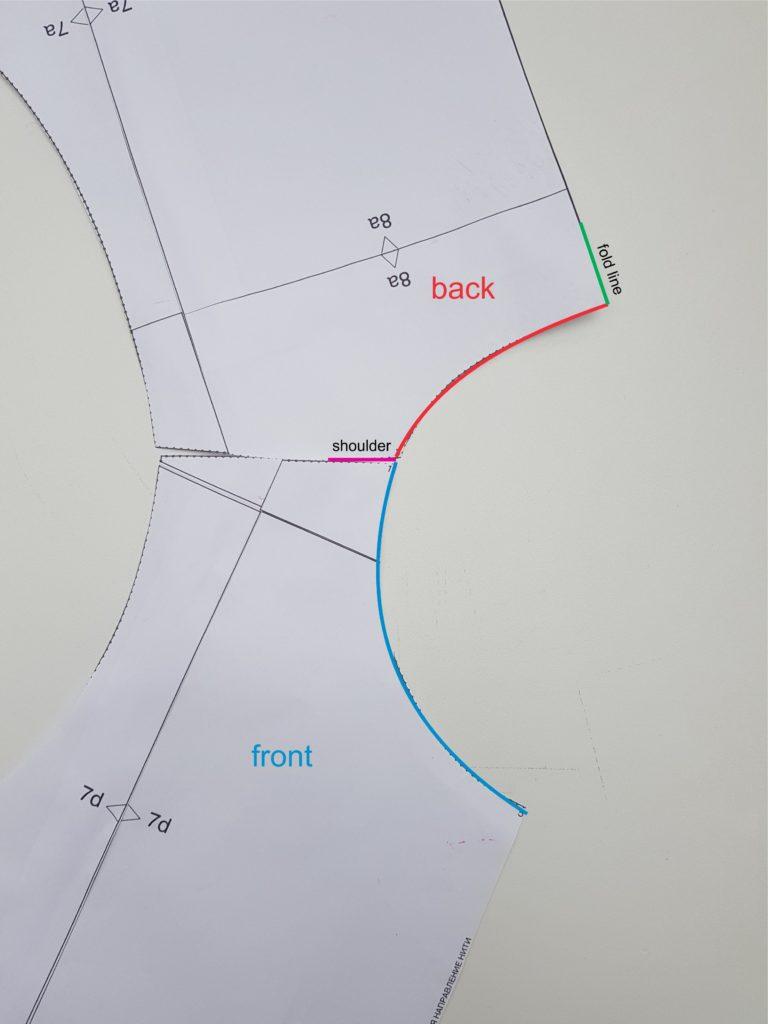 Collar pattern making