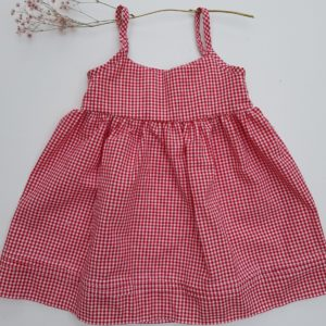 Spaghettiträger Kleid Schnittmuster