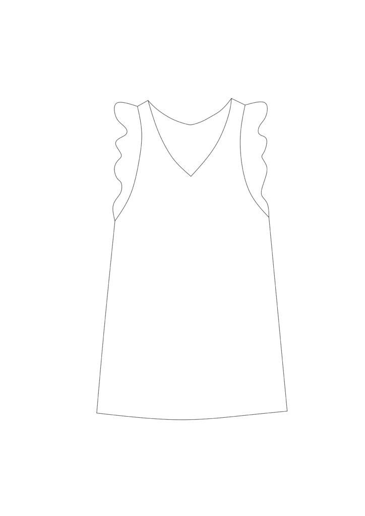 Musselin Kleid Schnittmuster kostenlos